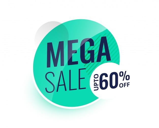 Mega sprzedaż nowoczesny projekt etykiety lub baner