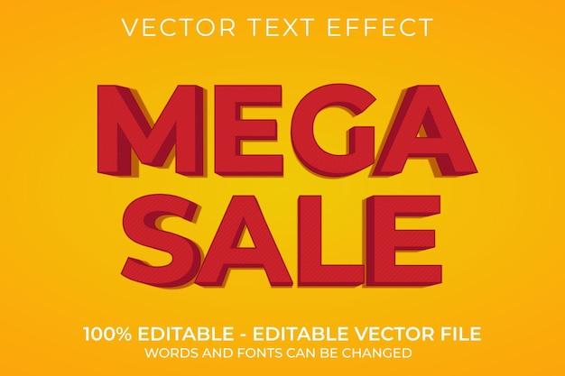 Mega wyprzedaż 3d edytowalny efekt tekstowy
