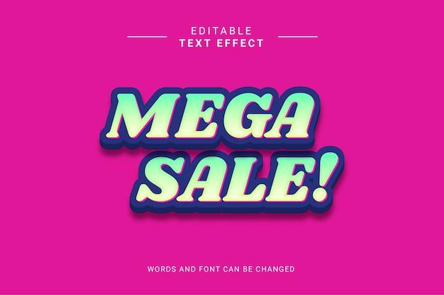 Mega zabawny styl efektu sprzedaży