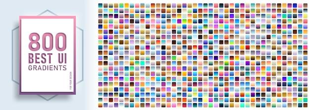 Mega zestaw z 800 próbkami kolorów gradientu ui
