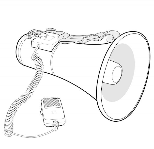 Megafon głośnik wektor wzór ilustracja szablon