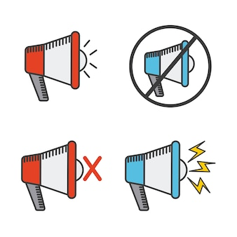 Megafon ikona designu, grafiki wektorowej ilustracja eps10