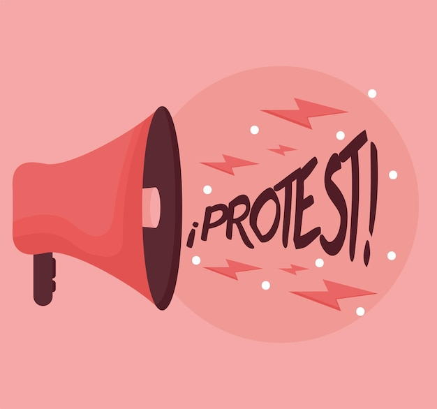 Megafon na protest