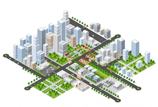 Megapolis 3d izometryczny