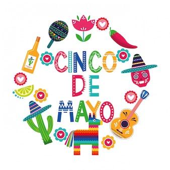 Meksyk cinco de mayo karty