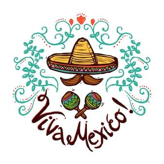 Meksyk Szkic Ilustracji