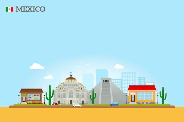 Meksyk zabytki panoramę
