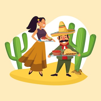 Meksykanie świętują na pustyni