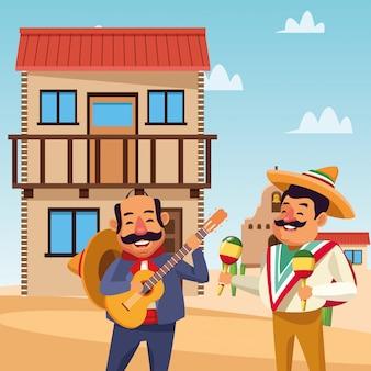Meksykańscy kreskówka mężczyźni