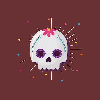 Meksykańska czaszka cukru