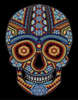 Meksykańska czaszka huichol