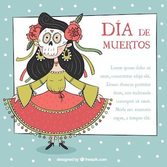 Meksykańska kobieta w dniu zmarłego