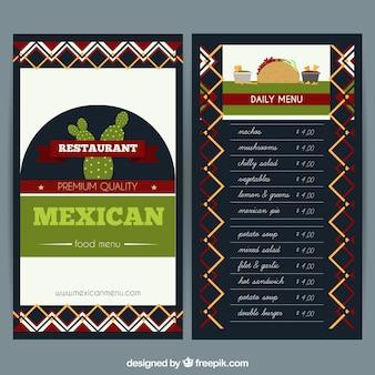 Meksykańska szablon menu restauracji