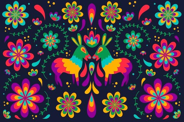Meksykańska tapeta z kolorowymi detalami