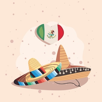 Meksykańska uroczystość w słomkowych kapeluszach