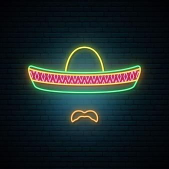 Meksykańska w narodowym kolorowym sombrero.