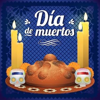 Meksykański dzień zmarłych składu ołtarz
