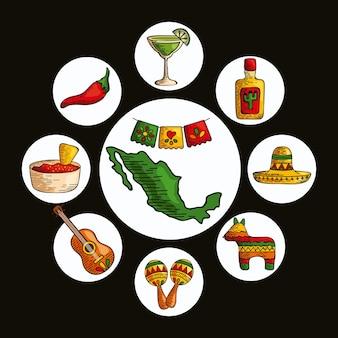 Meksykańskie clipart dookoła
