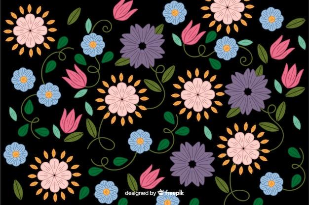 Meksykańskie hafty kwiatowy tło