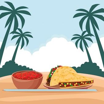 Meksykańskie jedzenie i kultura tradycyjna