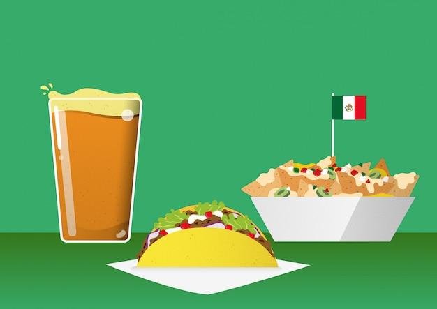 Meksykańskie jedzenie i przekąski barowe
