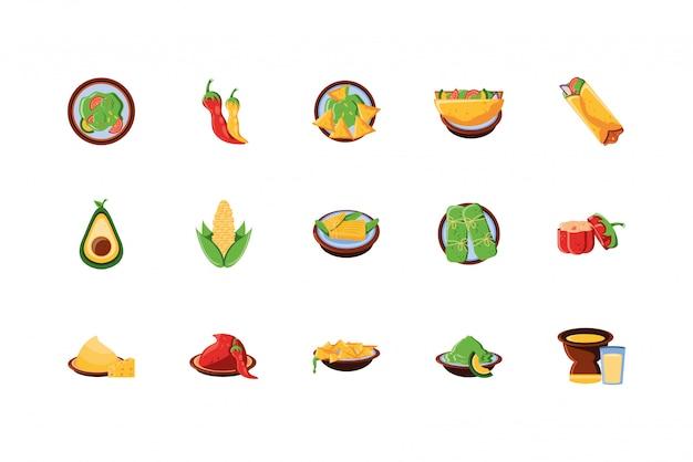 Meksykańskie jedzenie ikona scenografia
