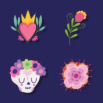 Meksykańskie kwiaty czaszki