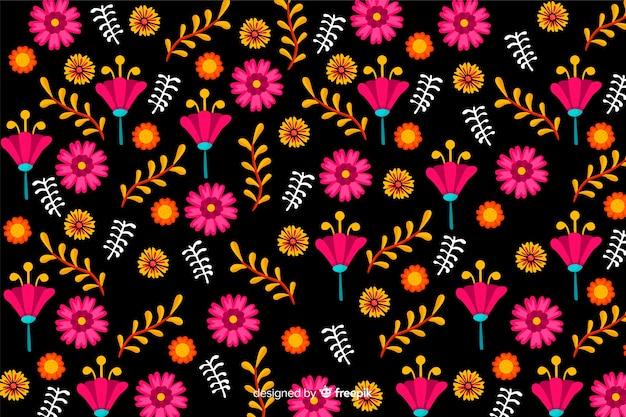 Meksykańskie tło kwiatowy
