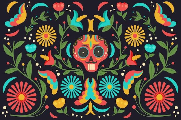 Meksykańskie tło z kolorowymi detalami