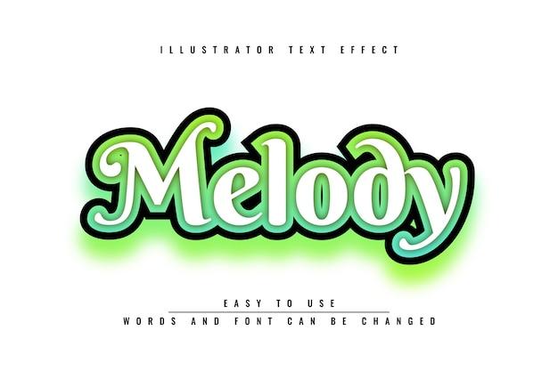 Melodia - edytowalny efekt tekstowy