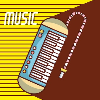 Melodica nowoczesny sprzęt muzyczny kreskówka