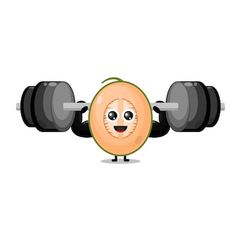 Melon fitness brzana urocza maskotka postaci