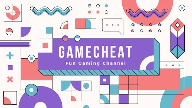Memphis design gaming grafika kanału youtube