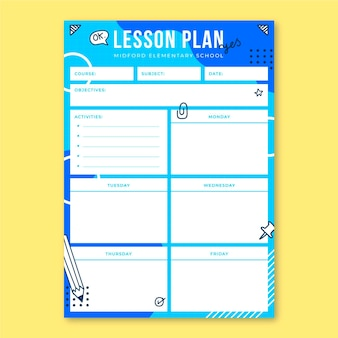Memphis doodle plan lekcji edukacji podstawowej