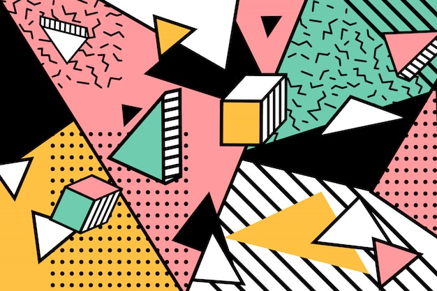 Memphis geometryczne tło