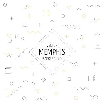 Memphis liniowe tło