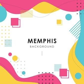 Memphis nowoczesny kolorowy element tła