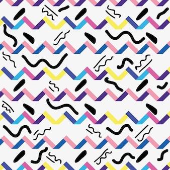 Memphis styl z koloru geometrycznego projekta wektoru ilustracją