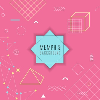 Memphis stylu tła projektu