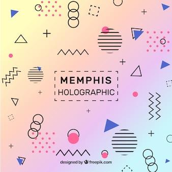 Memphis tło holograficzne