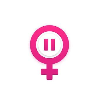 Menopauza ikona na białym, projekt wektor
