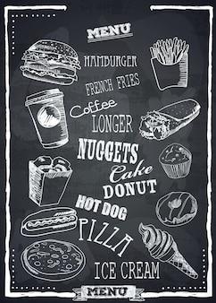 Menu fastfood.