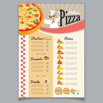 Menu pizzy