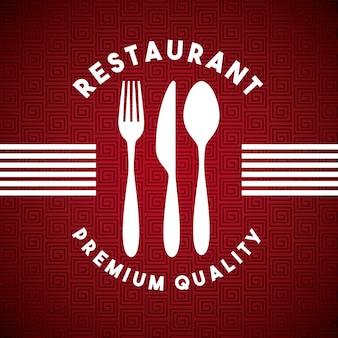 Menu restauracja z zestawem sztućców