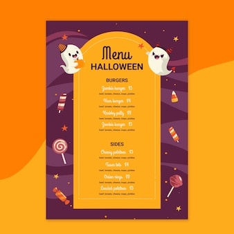 Menu restauracji halloween