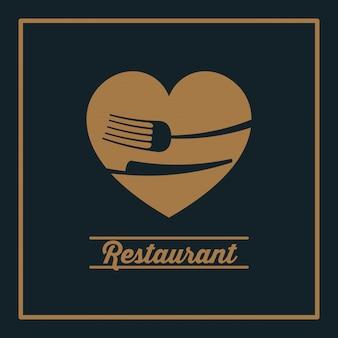Menu restaurent ikona żywności