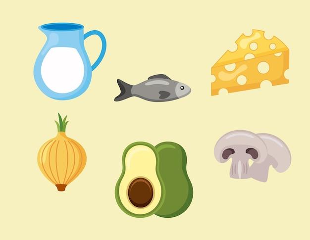 Menu sześciu składników mineralnych diety