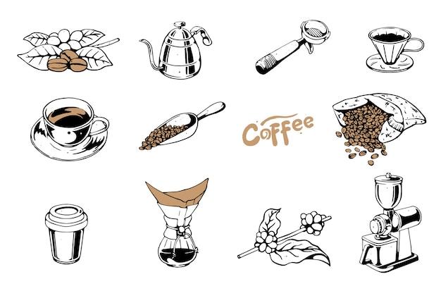 Menu zestaw do kawy