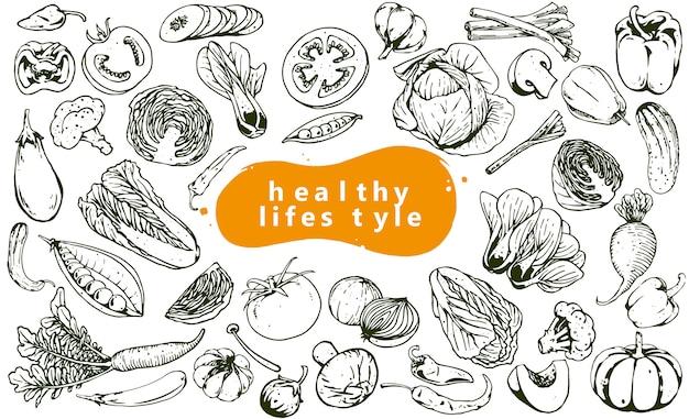 Menu zestaw warzyw