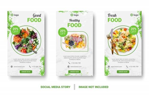 Menu żywności baner społecznościowy post.